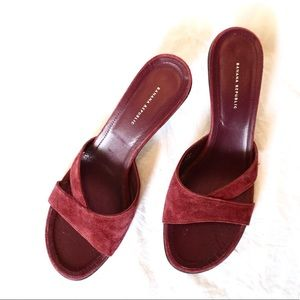Banana Republic heels burgundy wine size 8 suede